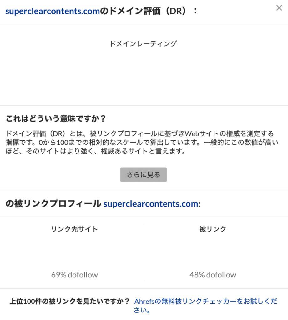 ahrefsのWebサイトオーソリティチェッカーの使い方2