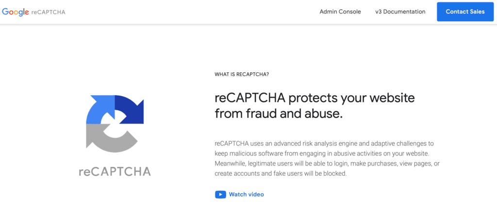 Contact Form 7のreCAPTCHA設定方法1