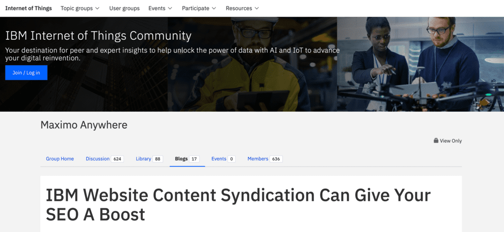 IBM.com IBM Website Content Syndication Can Give Your SEO A Boost