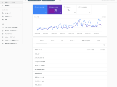 Google Search Consoleの使い方 検索パフォーマンス