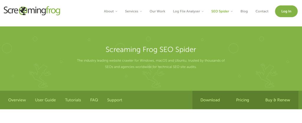 無料SEOツール Screeming Frog SEO Spider Tool
